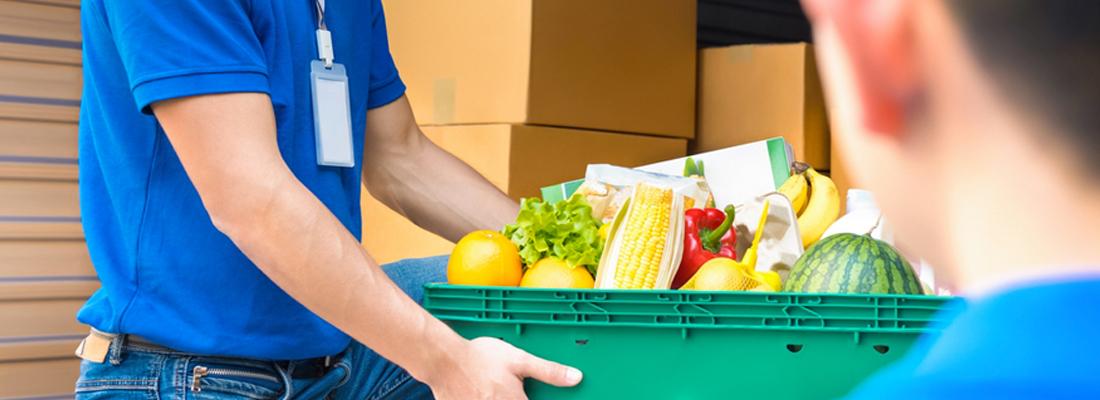 , Livraison, paniers, fruits